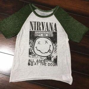 A Nirvana Band shirt